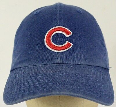 CHICAGO CUBS BLUE Baseball Hat Cap with Cloth Strap Adjust -  22.22 ... 4392ab5d607