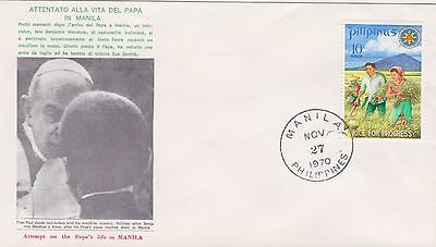 1970-Philippines cover commemorating the attempt to the Pope's life in Manila fr