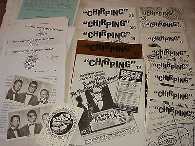 BUDDY HOLLY, CRICKETS large collection of Fan Club magazines + membership cards