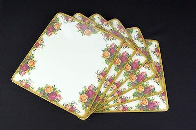 6 Royal Albert Old Country Roses Melamine Place Mats