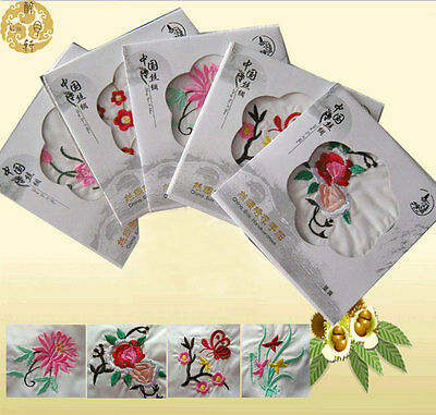 Wholesale30pcs Exquisite Chinese Handmade Vintage Embroidered Silk Handkerchief