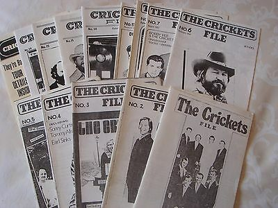 """BUDDY HOLLY, CRICKETS 17 early issues of """"Crickets File"""" incl. No.1"""