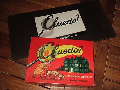 Original Vintage SMALL BOX CLUEDO. Good Condition. Complete and with BOARD.
