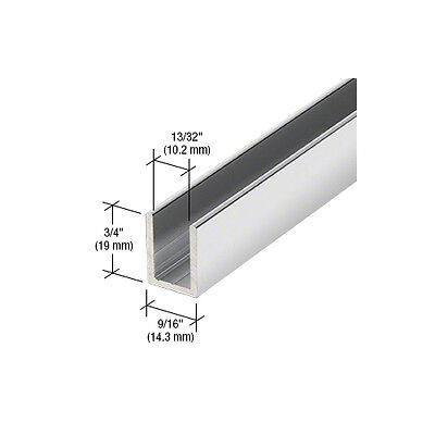 Shower U-Channel for 10mm Glass 2.49m Long