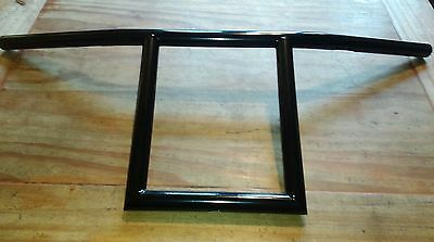 "1"" Square T Bars 10""  Rise In Black Custom Made For Harley Bobber Chopper"