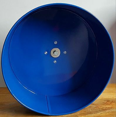 "16"" Metal Exercise Wheel. Silent Chinchilla Wheel 5"" Deep TicTacWheels BLUE"