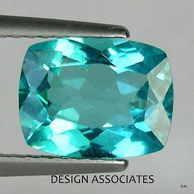 BLUE APATITE 7 x 5 mm CUSHION CUT VERY NICE COLOR