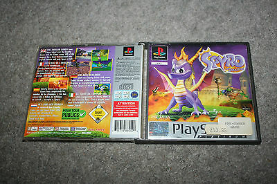 PLAYSTATION 1 SPYRO THE DRAGON CASE ONLY NO GAME OR MANUAL platinum