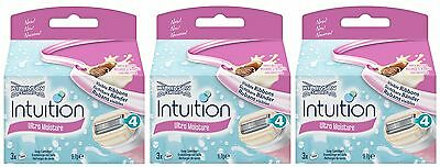 Wilkinson Sword Intuition Ultra Moisture Blade Refills 3 Packs Of 3`s