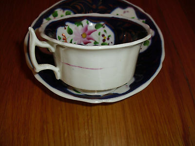 Stunning Antique  bone china Hand painted  Cobalt blue cup