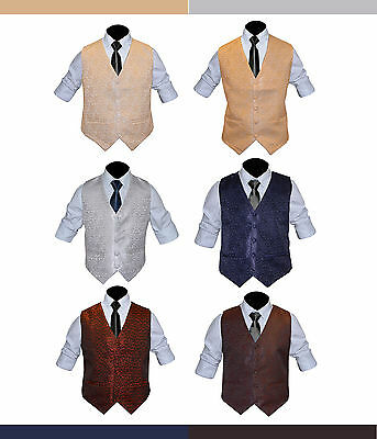 Pattern Swirl Men's Formal Wedding Waiters Waist Coat waistcoat Jamawar 15 color