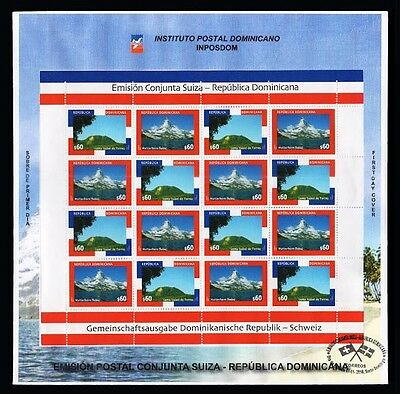 Dominican Republic-Switzerland Joint Issue,Matterhorn Mountain,Bávaro FDC 2016