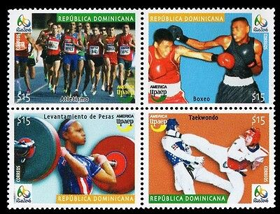 Dominican UPAEP Olympics Rio 2016 Athletics,Boxing,Weightlifting,Taekwondo MNH