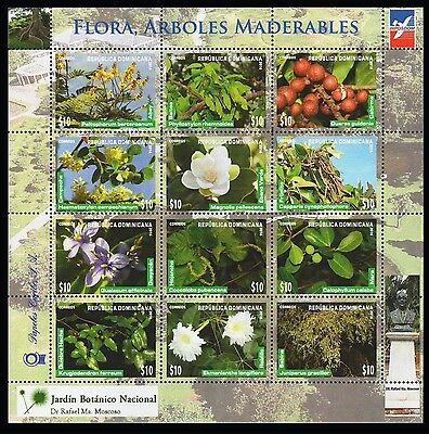 Dominican Republic Flowers, Trees, Botanic Garden MNH 2016