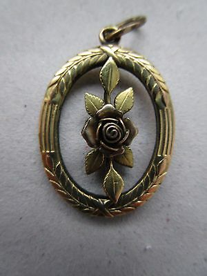 Antique Gold Plated Victorian Pendant Gold Double Filled
