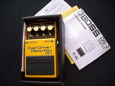 Boss Overdrive/distortion Os-2 Effects Pedal