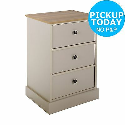 Collection Kensington Bedside Chest - Oak and Putty. From the Argos Shop on ebay