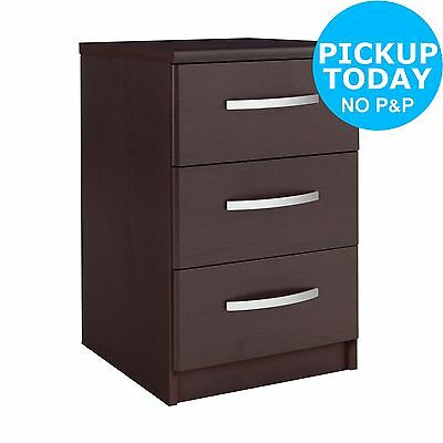Collection New Hallingford 3 Drawer Bedside Chest - Wenge Effect From Argos ebay