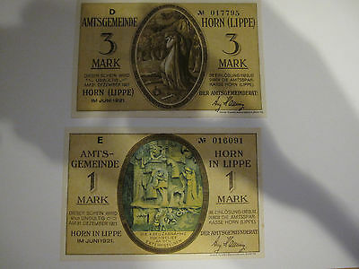 2 Large Sized German Notgeld Banknotes