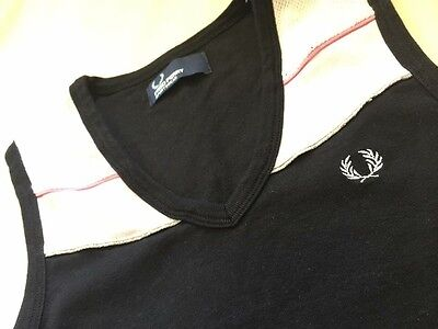 Women's Fred Perry Sleeveless Tennis Polo Top Sportswear T-Shirt UK 8