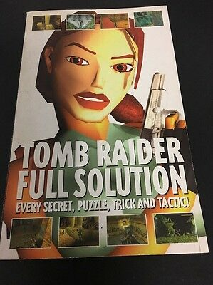 TOMB RAIDER Full Solution Complete Guide BOOK Ps1 PlayStation 1