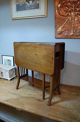 Antique Edwardian Sutherland table mahogany drop-leaf side occasional