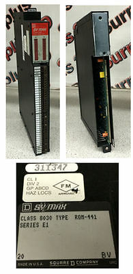 Square D SY/Max ROM-441 Series E1 Class 8030 Output Module