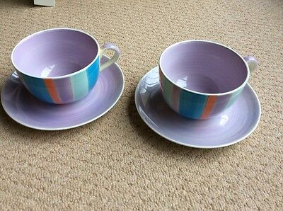 WHITTARD OF CHELSEA Large Cup & saucers X 2