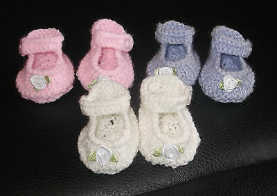 Lovely Hand Knitted Dolls Clothes Shoes,reborn,baby Born,annabell Choice Colors