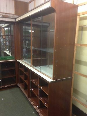 Double Shop Display Cabinet