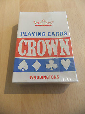 Vintage Crown Playing Card, By Waddingtons NOS SEALED red back
