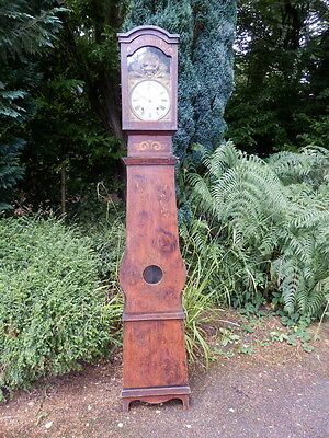 Clock, longcase, French, painted, Grandfather.