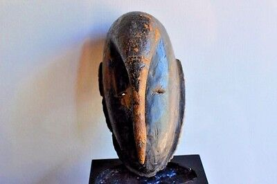 African Djimini mask, Tribal used, Do society initiation mask from Ivory Coast