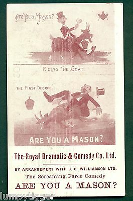 ARE YOU A MASON? THEATRE POSTER,vintage postcard