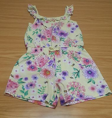 Used - Girls Summer Lemon Playsuit - 5/6 Years