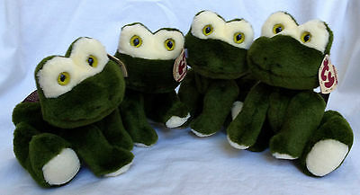 "Retired Ty Attic Treasures PRINCE the Frog 7"" Plush 6th Gen Tag ~ Lot of 4 ~ NWT"