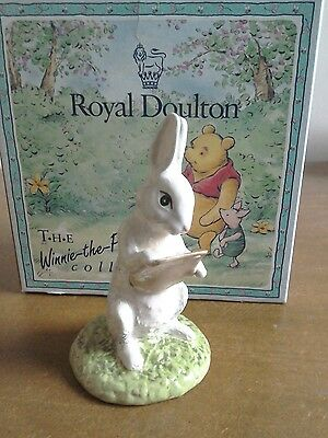 Royal Doulton Winnie the Pooh collection Rabbit Reads The Plan, mint condition.