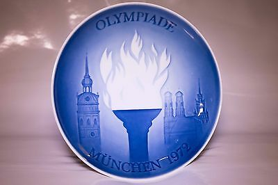 Olympiade Munchen /munich Olympic Games 1972 Germany Plate Copenhagen Porcelain