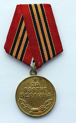 Old 100% Original USSR Soviet Russian WWII Medal Capture of Berlin CCCP WW2