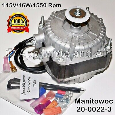 2000223 20-0022-3 Manitowoc Ice Fan Motor 115V 16W + Instructions Ships Today!