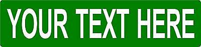 2 - Your Text REAL custom street sign DOT APPROVED .080 thick 2-sided road NEW