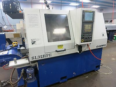 32Mm Hanwha Sl-32Hpii 7-Axis Cnc Swiss Type Sliding Headstock Automatic Lathe