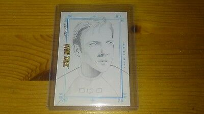 Star Trek Sketch card by Sarah Wilkinson of Bread and  Circuses