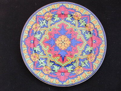 Antique Royal Doulton Islamic Series Plate ~ D 1864 ~ Colourful Seriesware Plate