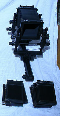Cambo SCX 4x5 Camera system, including 3 lens boards and 10 holders