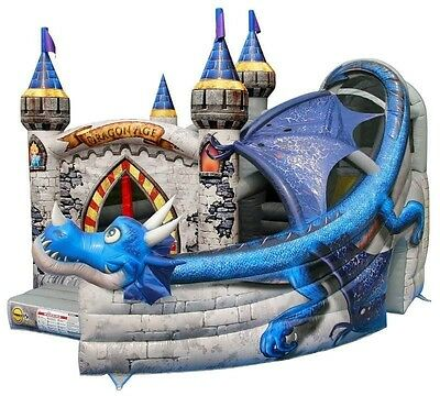 Bouncy Castle Commercial 18ft Dragon kids fun party business idea hire start up