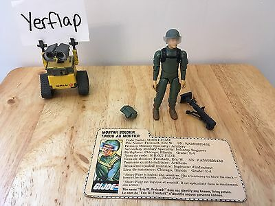 Vintage GI Joe 1983 Short Fuze Mortar Soldier Complete Action Figure
