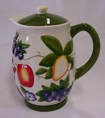 Nonni's Handpainted Cookie Jar / Pitcher With Lid