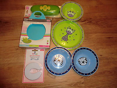 Baby Feeding Job Lot Blue And Green  Bargain