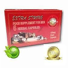 Extra Strong Male Tonic Aid Performance Pills 6 Herbal Capsules sold in the box